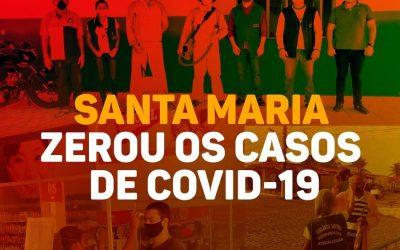 Santa Maria Zerou os casos de COVID-19
